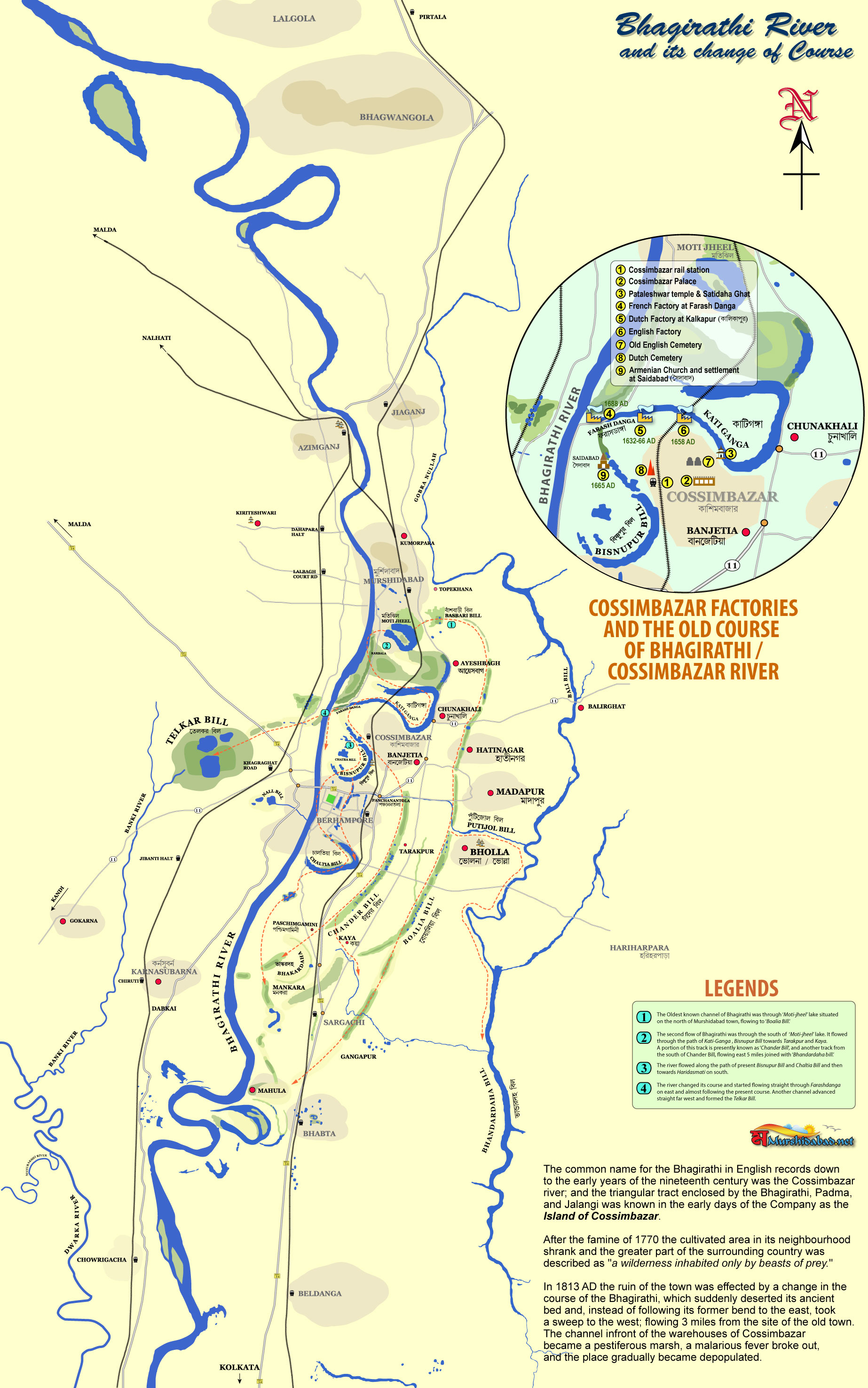 Image result for west bengal rivers map